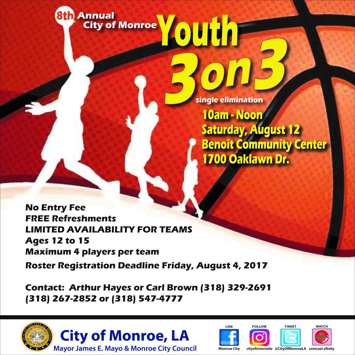 Youth 3 On Basketball Tournament