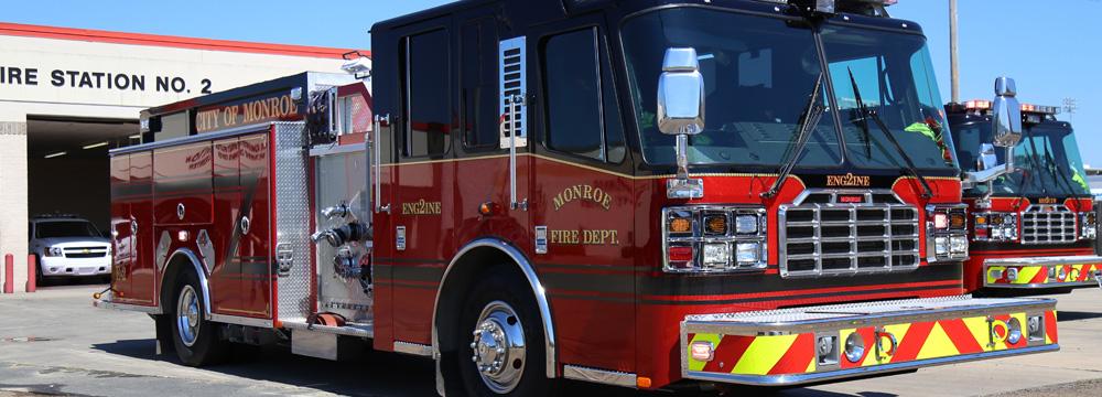 Fire Truck Fire Department - City of Monroe, LA