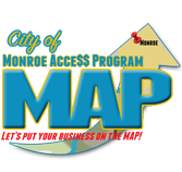 City of Monroe Access Program - Map Local Business, Louisiana