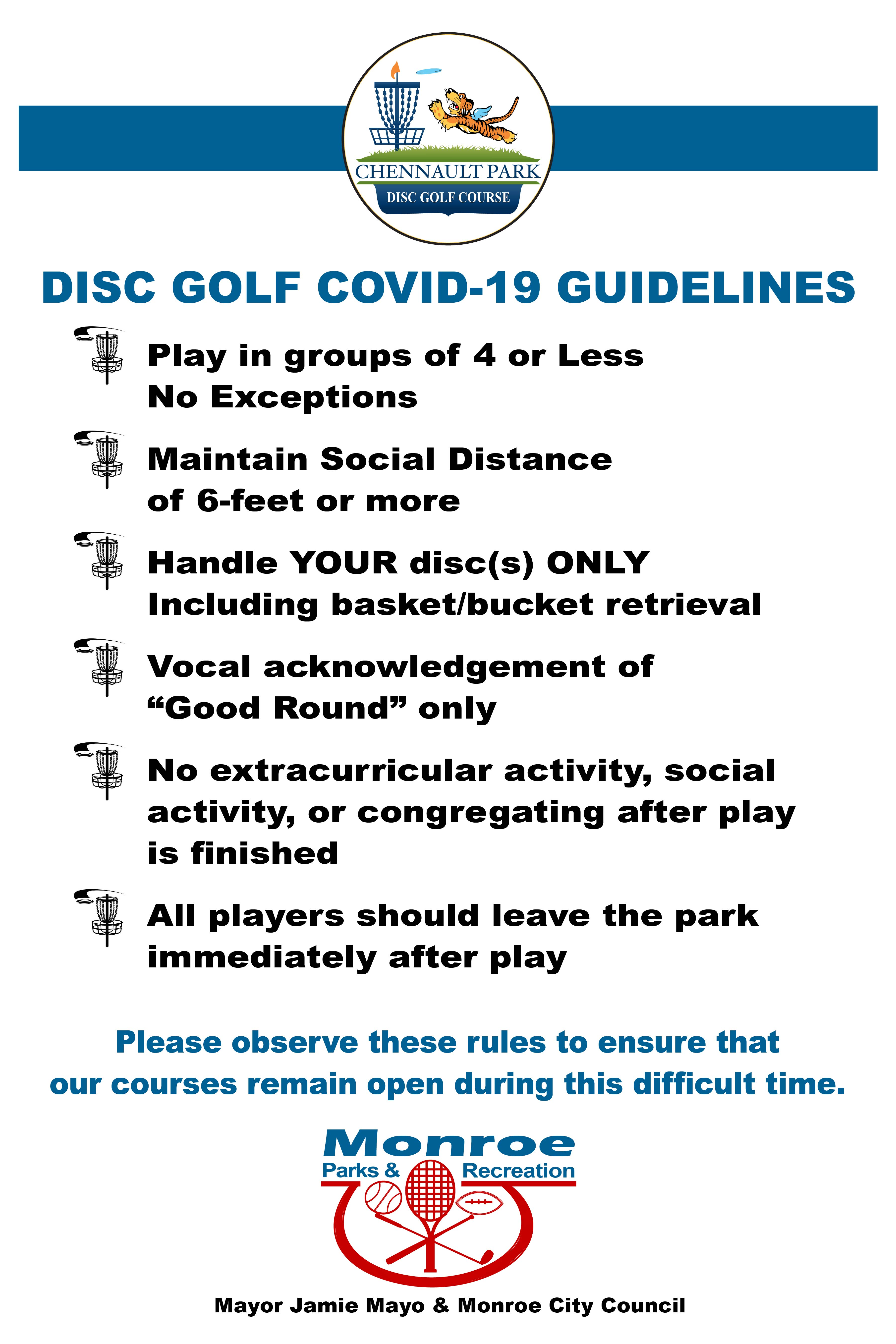 Phase 1 - Disc Golf Rules
