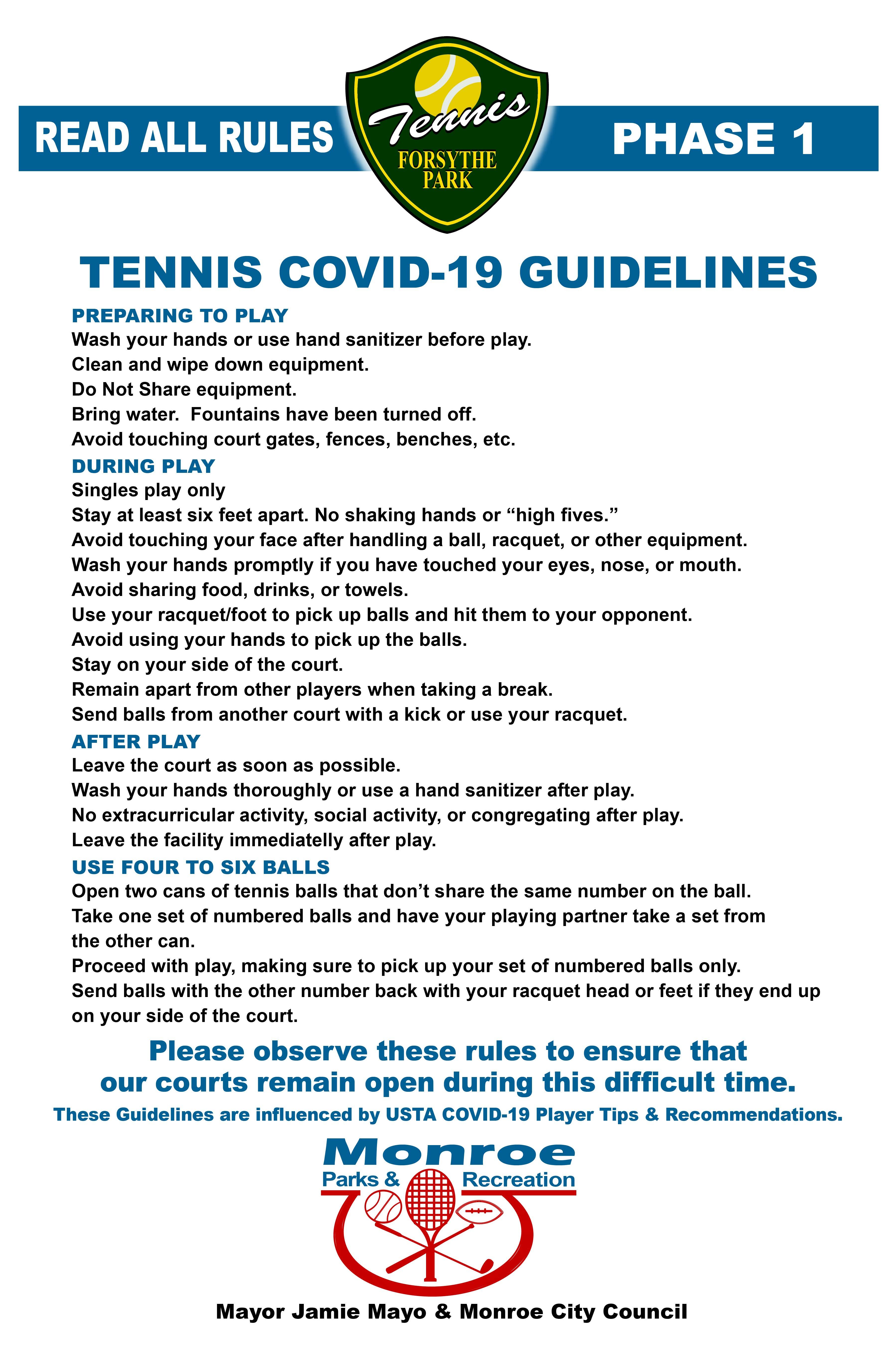 Phase 1 - Tennis