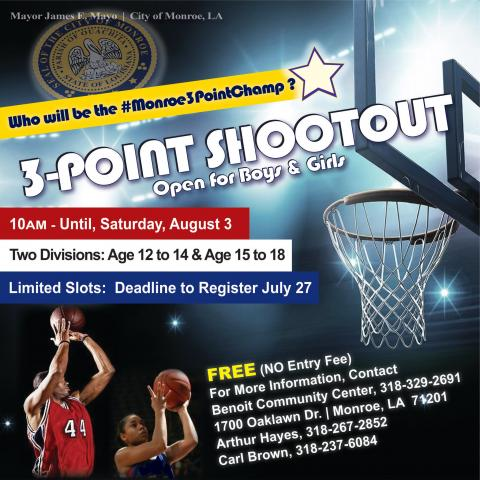 Benoit Community Center: Youth 3-Point Shoot Out | City of Monroe,