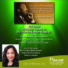 City of Monroe 41st Annual Birthday Salute to Dr. Martin Luther King, Jr.