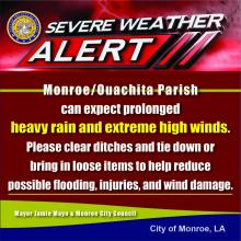 Severe Weather Alert: Rain and Extremely High Winds Predicted