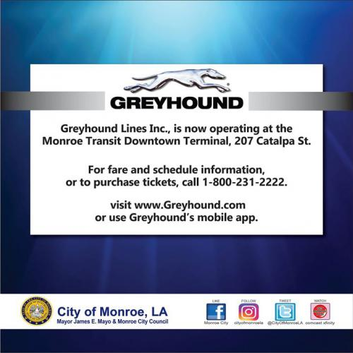 Greyhound now operating in downtown Monroe